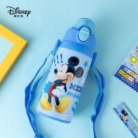 迪士尼儿童保温杯带吸管大容量316不锈钢小学生水杯防摔便携水壶
