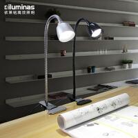 led夹子台灯USB工作学习阅读护眼夹灯可调光宿舍卧室床头灯
