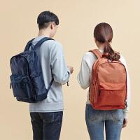 韩版轻便大双肩包男女电脑包旅行背包登机包短途行李包SN5947 Orange桔色 可放15.6寸笔记本