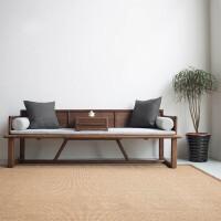 新中式罗汉床三人沙发现代简约炕床实木罗汉塌明清贵妃床禅意定制