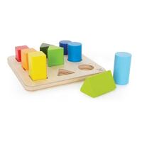 Hape渐变拼拼乐18个月以上儿童益智早教分类玩具积木婴幼玩具木制玩具E0426