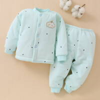 婴儿棉衣套装加厚保暖宝宝衣服冬装夹棉袄0-1岁新生儿童外套