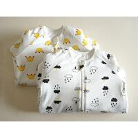 全棉加厚睡袋 双向拉链分腿防踢被 婴幼儿夹棉睡袋 满满滴小动物