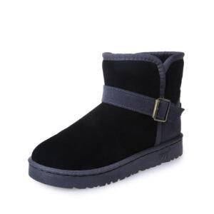 O'SHELL法国欧希尔新品冬季165-K-021韩版磨砂绒面平跟女士雪地靴