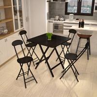 餐桌 便携正方形餐桌摆摊桌家用阳台吃饭桌子小方桌现代简约小户型简易折叠桌