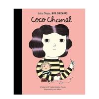 【小人物,大梦想】香奈儿Coco Chanel 3-6岁儿童美术音乐启蒙彩图英文艺术绘本 早教学前教育人物故事 善本图书