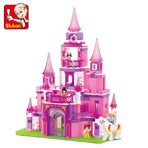 【当当自营】小鲁班粉色梦想女孩系列儿童益智拼装积木玩具 公主城堡M38-B0152