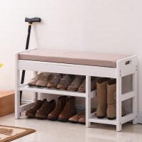 换鞋凳实木 收纳储物凳欧式鞋柜式鞋凳简约现代 穿鞋凳储物