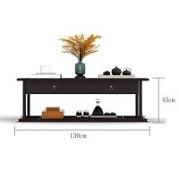 新中式实木布艺沙发组合现代简约禅意大客厅别墅全屋整套家具定制 组合