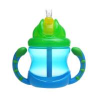努比/Nuby 双把手防漏吸管杯240ml pp婴儿水杯 宝宝杯子