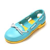 【秒杀价】Crocs女鞋卡洛驰帆船鞋沙滩休闲鞋波特凉拖鞋洞洞鞋|14261 女士海滩帆船鞋