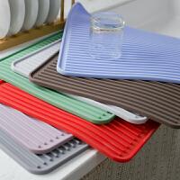 厨房硅胶沥水垫餐具茶具沥水垫锅垫碗垫餐盘过滤沥水