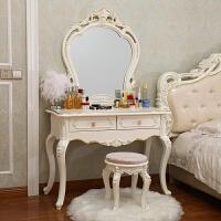 欧式梳妆台简约梳妆桌卧室梳妆台小户型迷你经济型化妆桌ins 组装