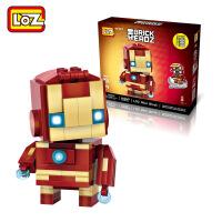 【当当自营】LOZ俐智mini颗粒积木漫威英雄联盟系列创意拼装玩具 钢铁侠Q版1402