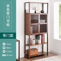 简易书柜书架置物架落地客厅组合收纳柜创意书架省空间