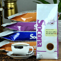 Socona红牌 哥伦比亚咖啡豆原装进口 可代磨咖啡粉454g包邮