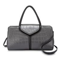 真皮包包女手提包新款气质淑女大气冬简约百搭休闲大容量优雅 灰色