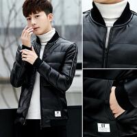 冬季外套男士棉服韩版修身皮棉衣青年袄子男冬装羽绒棉袄