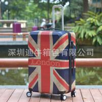 新款复古米字旗拉杆箱PC镜面万向轮密码行李箱20寸24寸旅行箱