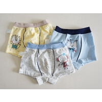 内衣 男童女童棉质内裤 不勒大腿的宝宝小短裤 三枚装