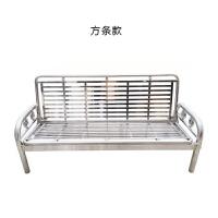 沙发床米推拉不锈钢铁艺床单人多功能折叠沙发床椅米 1.8米-2米