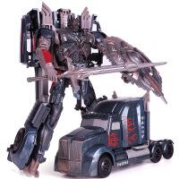 新款威将变形玩具擎天侠 W8083合金版机器人模型儿童汽车变形玩具