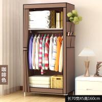 简易衣柜简约现代经济型宿舍衣橱布艺小号单人组装折叠布衣柜