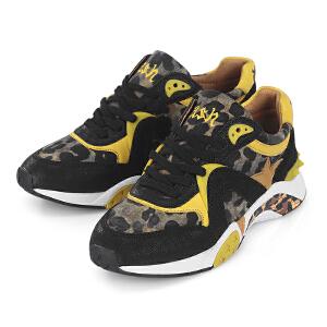 ASH艾熙 低帮运动女鞋千颂伊同款豹纹跑步鞋101947