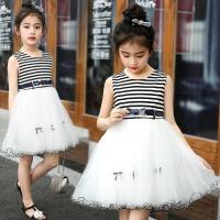 女童连衣裙夏装2018新款韩版时尚儿童公主裙淑女童洋气学院风裙子 白色