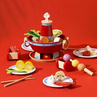 【跨店每满100-50】儿童过家家厨房玩具10件套锅碗瓢盆 女孩男孩做饭煮饭仿真玩具宝宝厨具套装