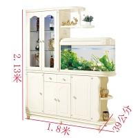 带鱼缸的隔断柜客厅玄关柜间厅柜门厅柜双面酒柜进门屏风柜装饰柜 组装 框架结构