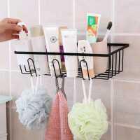 浴室置物架卫生间厕所洗手间收纳架子壁挂式粘贴无痕镂空铁艺挂架