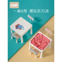 儿童多功能玩具桌宝宝游戏桌早教学习沙盘桌益智大颗粒积木桌子