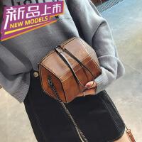 chic链条包包女2018新款潮港风复古时尚百搭韩版手提包单肩斜挎包 b