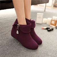 女童靴子韩版春秋小女孩公主短靴水钻两穿童鞋甜美马丁靴单靴