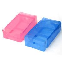 星空夏日 10只 抽屉式鞋盒加厚透明鞋盒镂空款 紫色