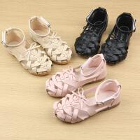 女童凉鞋夏季儿童沙滩鞋镂空包头宝宝鞋子软底小公主凉鞋