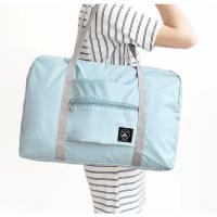 拉杆箱套包防水折叠衣物行李袋单肩手提包 浅蓝色 拉杆套包 中
