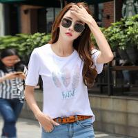超火cec短袖女新款韩版夏季上衣女纯棉百搭白色t恤女宽松半袖
