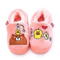 儿童拖鞋女宝宝棉拖鞋 1-3岁婴幼儿防滑软底室内家居鞋男