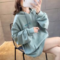 卫衣 女士薄款宽松连帽上衣打底衫2020春秋女式韩版慵懒长袖大码T恤外套