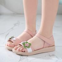 女童凉鞋2020新款韩版夏季小公主宝宝儿童鞋软底中大童女孩沙滩鞋