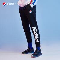 【过年不打烊 满169减100】【百事联名】361运动裤男2019秋季束脚裤子针织长裤