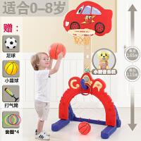 儿童家用蓝球架 宝宝可升降投篮筐框家用室内小男孩玩具1-2-3-4周岁6 CX 【汽车总动员】 特大音乐款 红