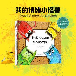 The Color Monster 我的情绪小怪兽点读版 英文原版绘本 3D弹起立体书 Colour 亲子启蒙游戏道具颜色小怪物情商管理玩具童书 精装