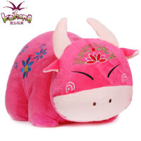 招财牛娃娃毛绒玩具牛牛公仔 办公室趴睡枕抱枕 布娃娃牛玩偶礼物