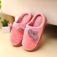 棉拖鞋女厚底冬季韩版居家可爱冬季棉拖鞋女室内保暖包跟拖鞋