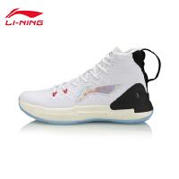 李宁篮球鞋男鞋驭帅132019新款透气男子鞋子一体织高帮运动鞋ABAP075