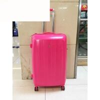 外单尾货艳色20寸/28寸行李箱拉杆箱旅行箱男女通用子箱 玫红色 20寸