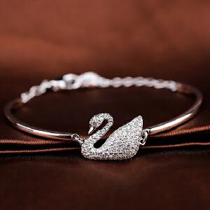 Swarovski/施华洛世奇 正品欧美时尚女性密镶水晶银色手镯5011990